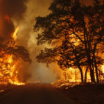 wildfires burn out of control