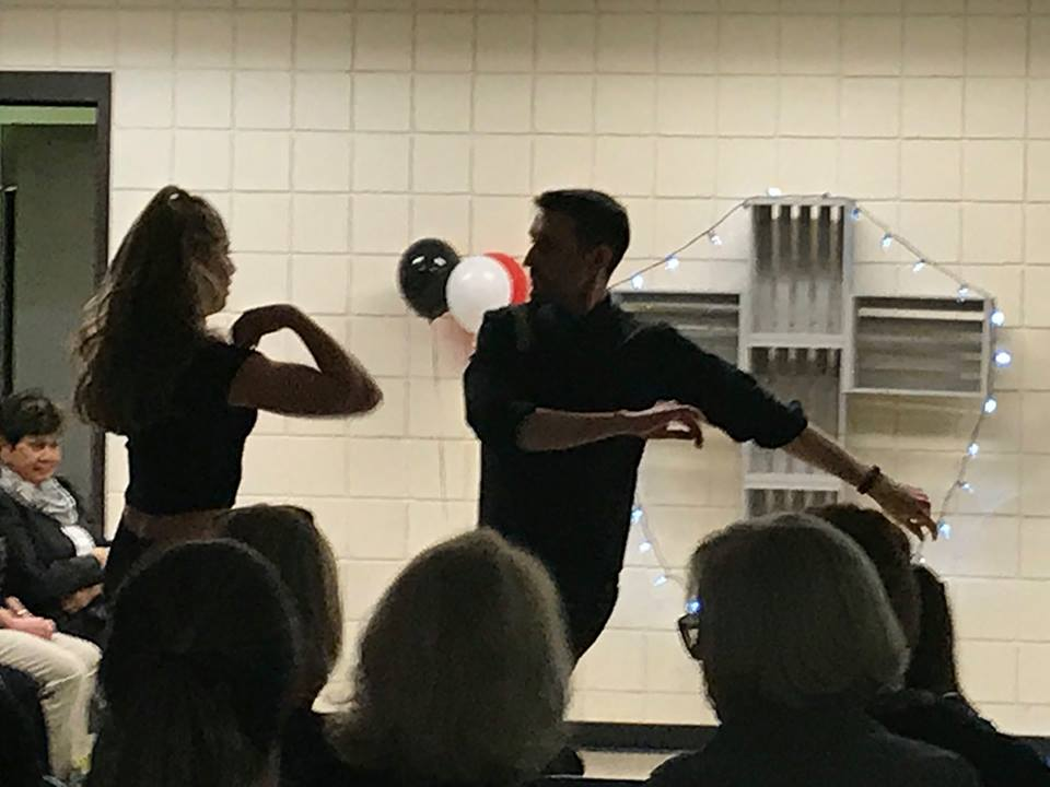 Katelyn Photopolous Dancing at Fundraiser