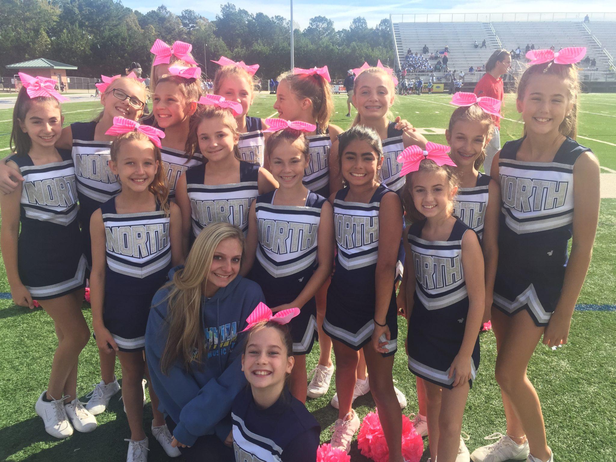 Angi Morrison Coaching Junior Cheer Leaders
